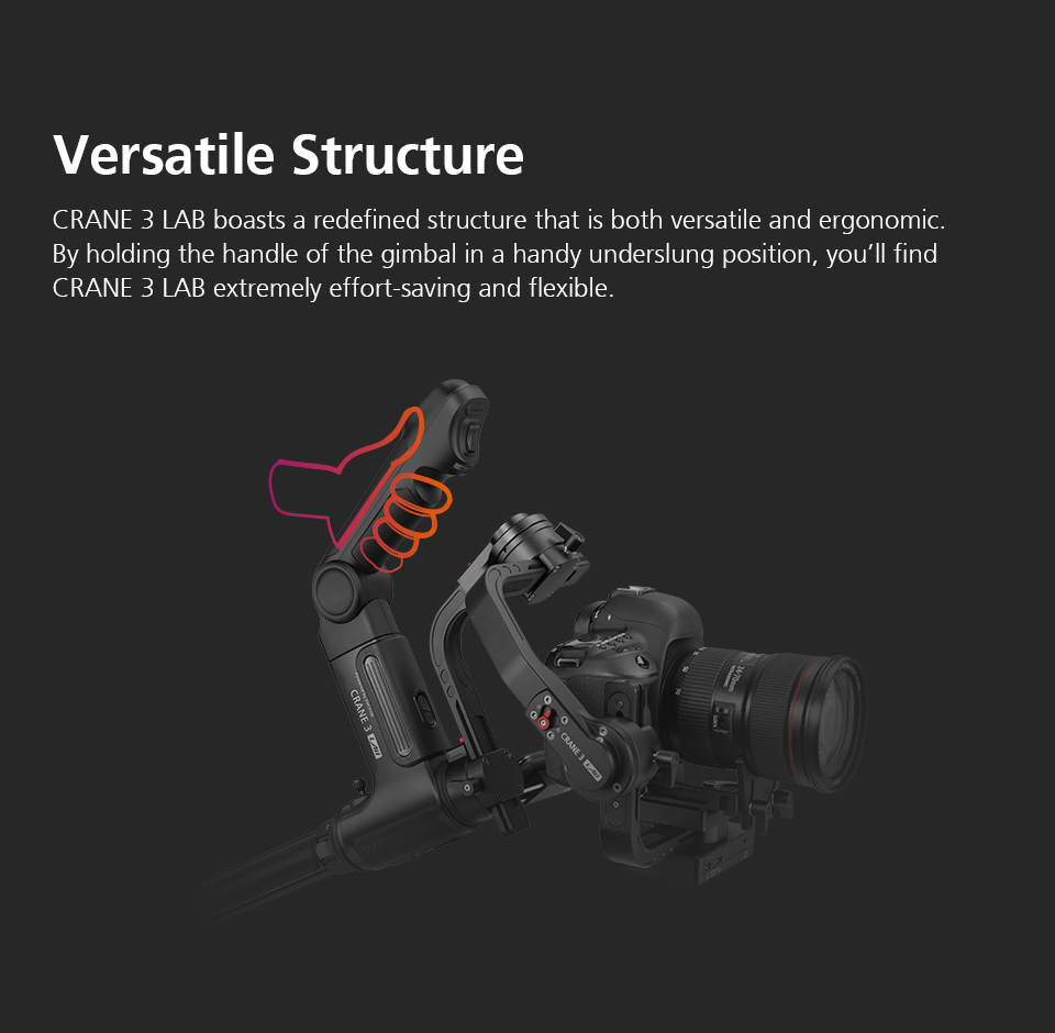Zhiyun Crane 3 Lab Crane 2 Upgrade Version 3-Axis Gimbal Stabilizer for DSLR Cameras, 1080P Full HD Wireless Image Transmission 4