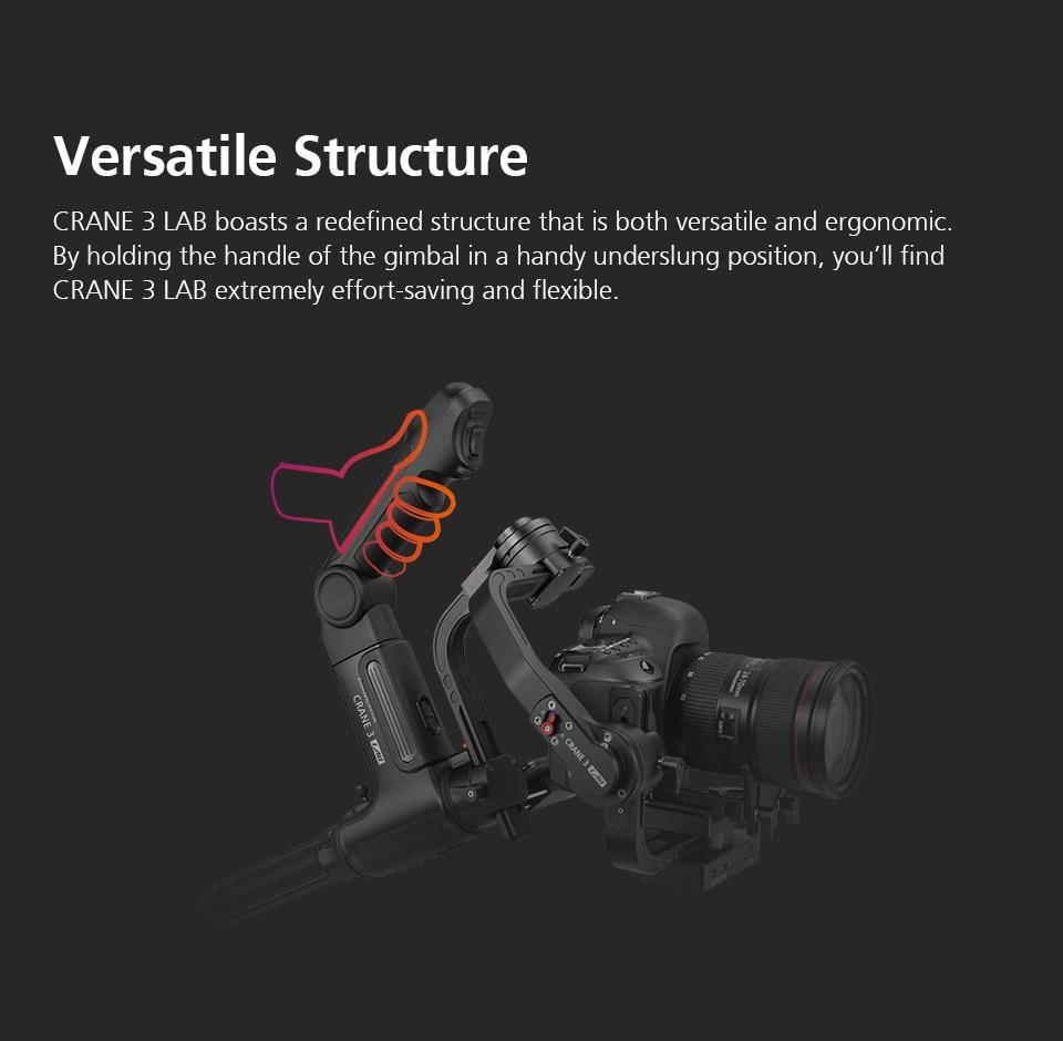 Zhiyun Crane 3 Lab Crane 2 Upgrade Version 3-Axis Gimbal Stabilizer for DSLR Cameras, 1080P Full HD Wireless Image Transmission 4