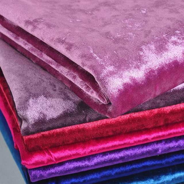 Online Shop 1 Meter Cut Velvet Fabric Upholstery For Curtains Pink