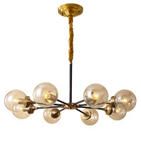 Modern Real brass Chandelier Lighting 8 arm for Foyer Stair Staircase Bedroom Hotel Hall copper Ceiling Hanging Suspension Lamp