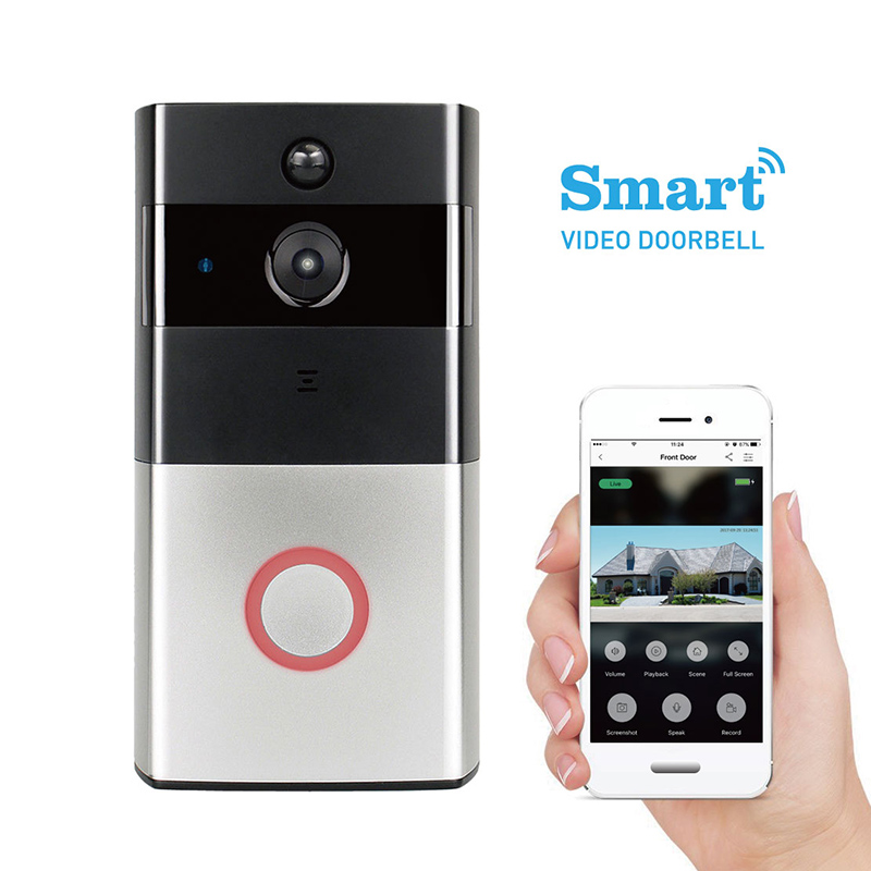 Door bell ip camera digital door eyewifi wireless front peephole camera video door phone digital camera with motion sensor