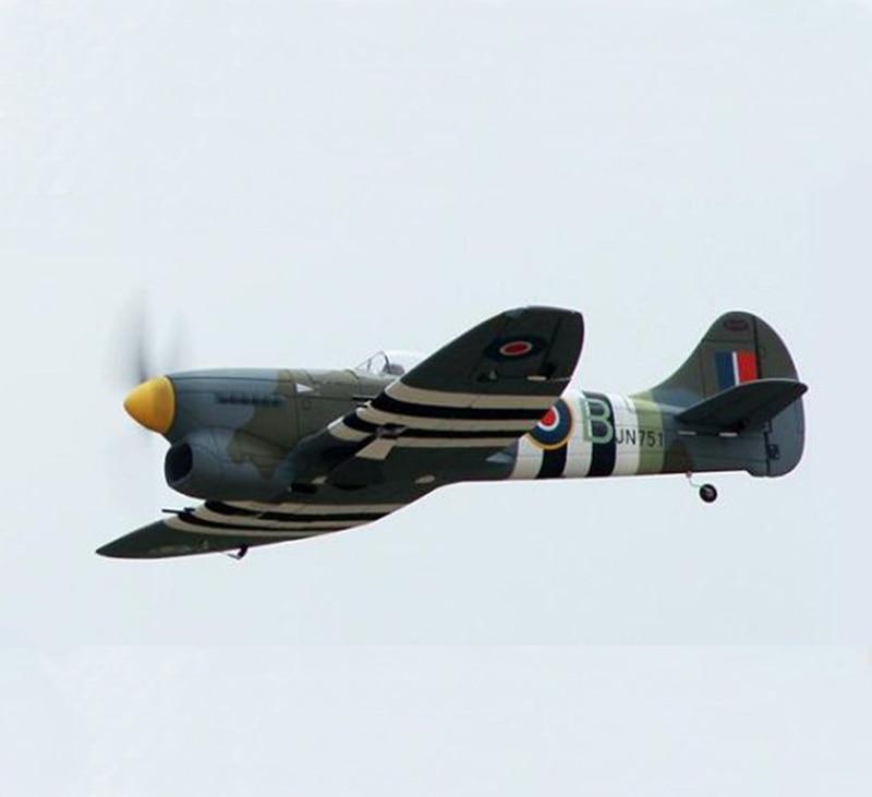 Dynam 1250MM Hawker Tempest RC RTF Propeller Plane Model W/ Motor ESC Servos Battery