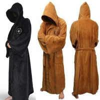 Adulto pijamas star wars darth vader flanela terry jedi roupão roupões cosplay traje de halloween cosplay hombre ropa de dormir