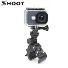 SHOOT Bike Clamp Clip Holder Mount for GoPro Hero 9 8 7 5 Black Xiaomi Yi 4K Dji Osmo Sjcam Eken H9 Go Pro Hero 8 9 Accessories
