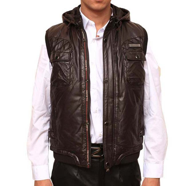 Popular Sleeveless Leather Jacket Men-Buy Cheap Sleeveless Leather ...