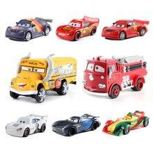 Cars Disney Pixar Cars 3 Toy Lightning McQueen Mater Storm Jackson Ramirez 1:55 Diecast Metal Alloy Model Car Toys Gift for Boys