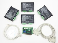 CNC Router 4 Axis Kit, 2DM542 4 Axis Stepper Motor Driver replace M542,2M542 stepper driver + mach3 5 Axis breakout board