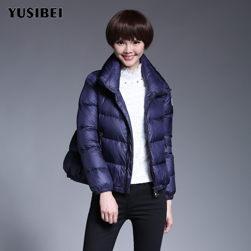 Fashion Short Style Womens   Down     Coat   Loose Fit Warm Winter White Duck   Down   Jacket Zipper Windbreaker Poncho Long Sleeve Overcoat