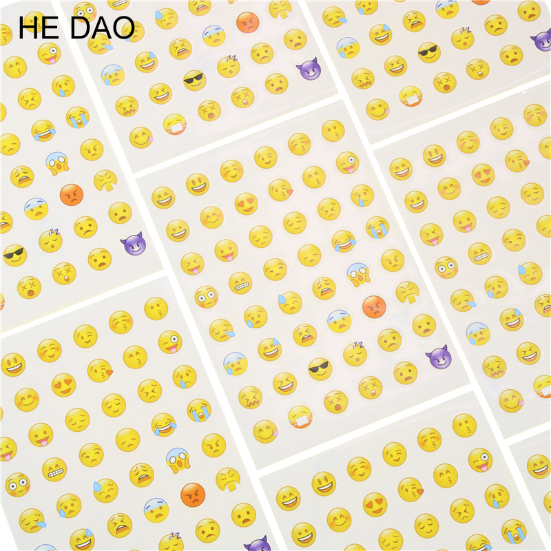 10 Pcs Cut Sticker 480 Classic Emoji Smile Face Stickers For Notebook Albums Message Twitter Large Viny Instagram Classical Toys one sheet 48 stickers hot popular sticker 48 emoji smile face stickers for notebook message twitter toy large viny instagram