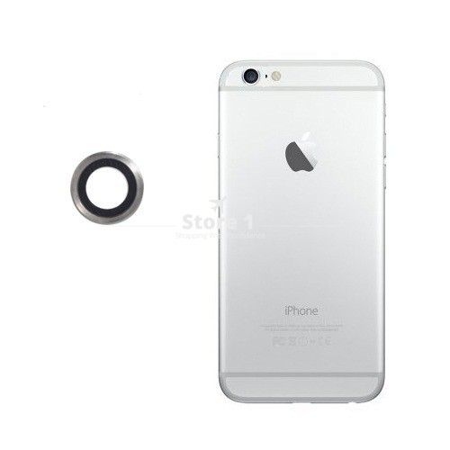 100% Original for Apple iPhone 6 Camera Lens; Sapphire Crystal Back Camera Glass Lens with Frame for iPhone 6 4.7 inch 4