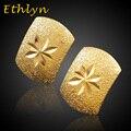 Ethlyn Новый Эфиопский/Африканских Серьги стержня для девочек/женщин 18 К Настоящее Позолоченные серьги шпилька серьги девочек ювелирные изделия