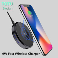 TOTU Original Qi Fast Wireless Charger 9W For Iphone X 8 8plus Charging Pad With Dual