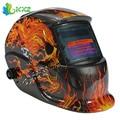 Skull Solar Energy Grinding Welding Helmet Automatic Auto Darkening Electric Welding Protective Face Mask Welder Lens Cap Tool