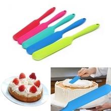 pastry tools Silicone Cake Cream Scraper Batter Spatula Mixer Long Handled Models Baking cake decorating