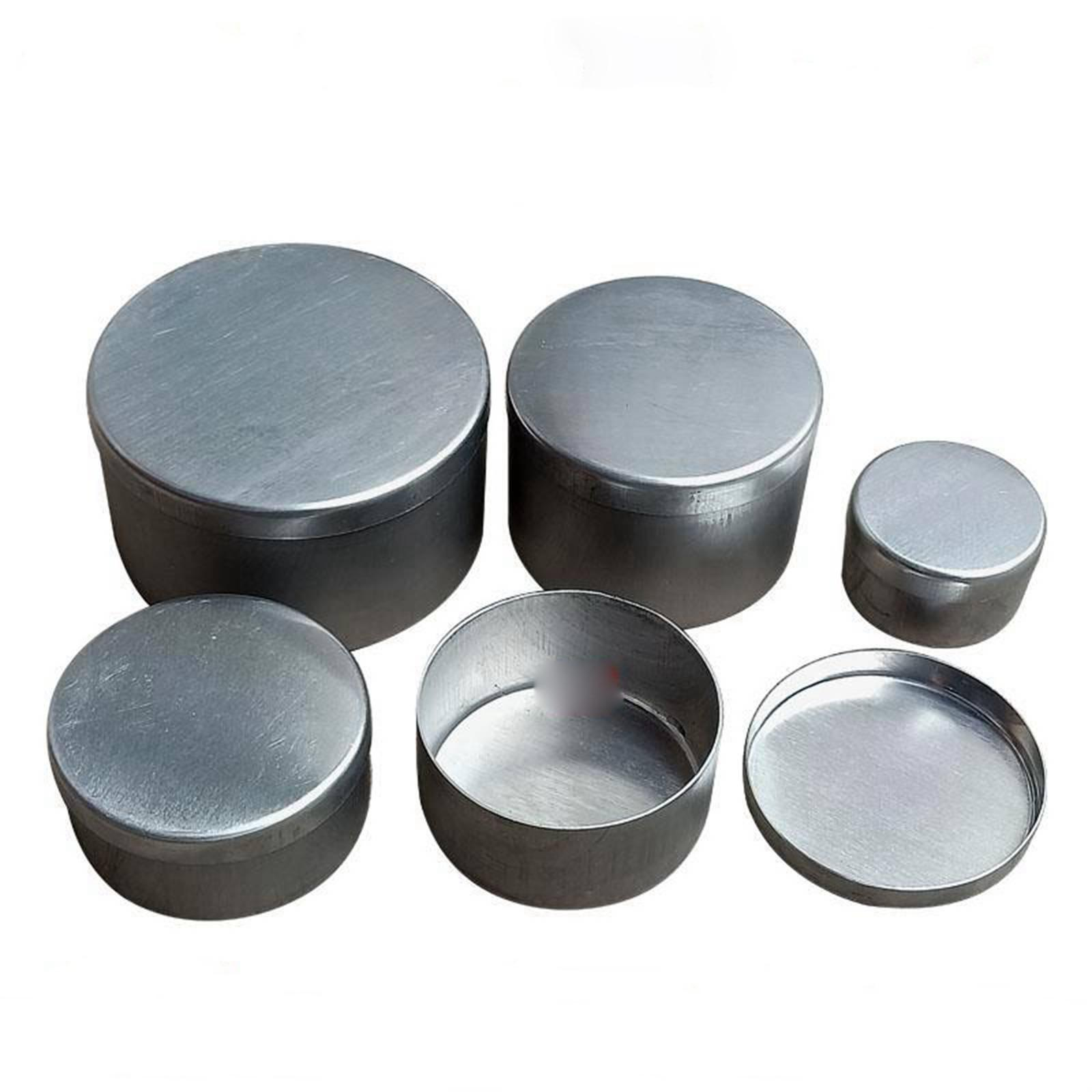 Aluminium  O/D 40mm To 100mm Height 25mm To 55mm Soil Weighing And Moisture Measuring Box Can Lab