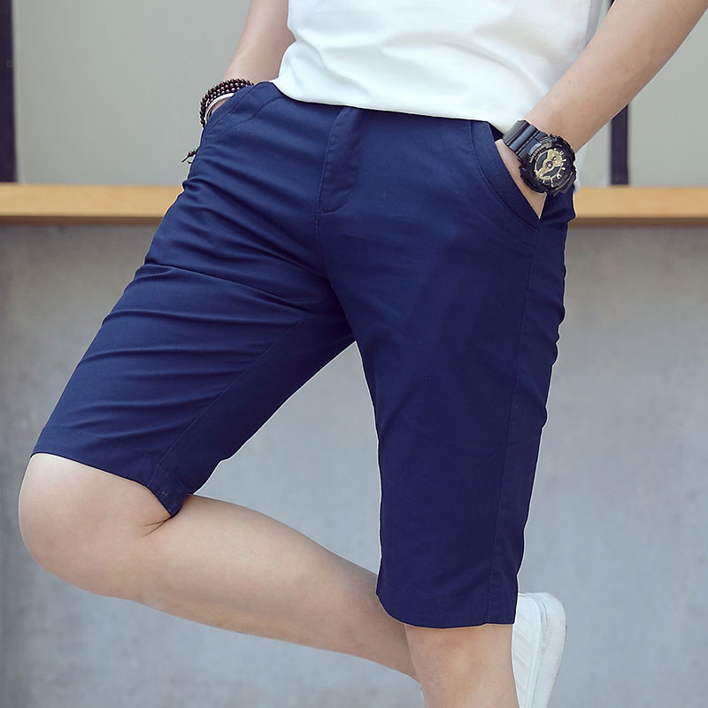 New Men Shorts Cotton  Men's Business Casual Shorts 100% Cotton Pupe Calor Fashion Men Shorts Pantalones Cortos De Los Hombres