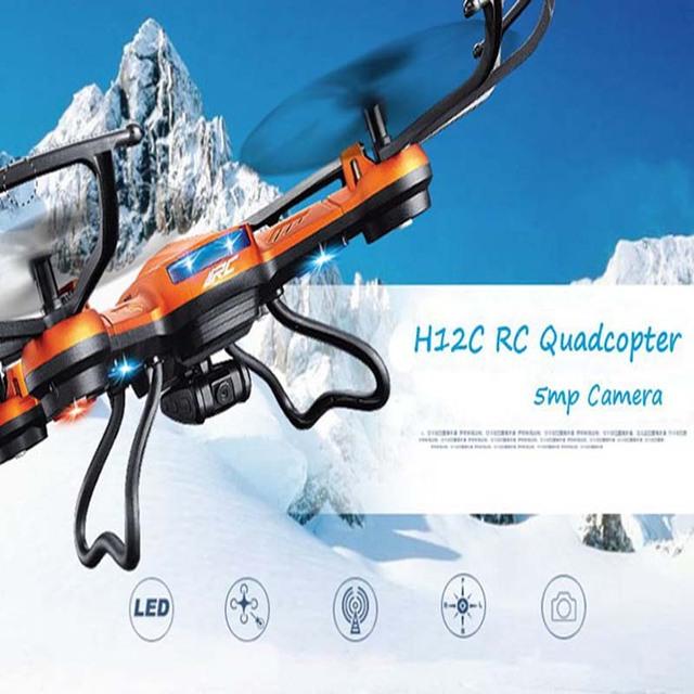 RC Quadcopter JJRC H12C 6 Eje 2.4G 4CH  Modo de Sin Cabeza  UFO RC Helicóptero Drone Teledirigido con Cámara de 2.0MP HD 2016 Nuevos Juguetes para Niños