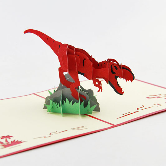 Pop-Up  Card - Dinomite  Dinosaur greeting card, 3D greeting card, pop up card. iclebo pop