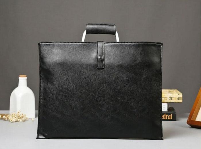 d5795d1c9ae ... Handbags Black Pu Leather Laptop Briefcase Men Tote Work Bag A4 Large  Capacity Hand Bag Bolsas. Size 36cm(Length)×28cm(Height). 470 471 469 ...