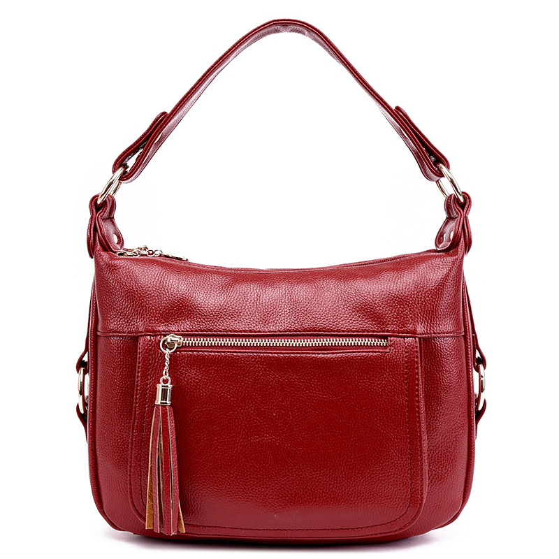 Fashion Lady Style Genuine Leather Women Tote Bag Handbags Women Messenger Shoulder Bag For Ladies Woman Bags Tassel Bags Bolsas aosbos fashion portable insulated canvas lunch bag thermal food picnic lunch bags for women kids men cooler lunch box bag tote