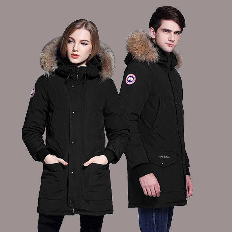 цены New Fashion Women Wadded Jacket Coat Winter White Duck Down Parkas Medium-long Lovers Thick Outwear Real Fur Overcoat Plus Size