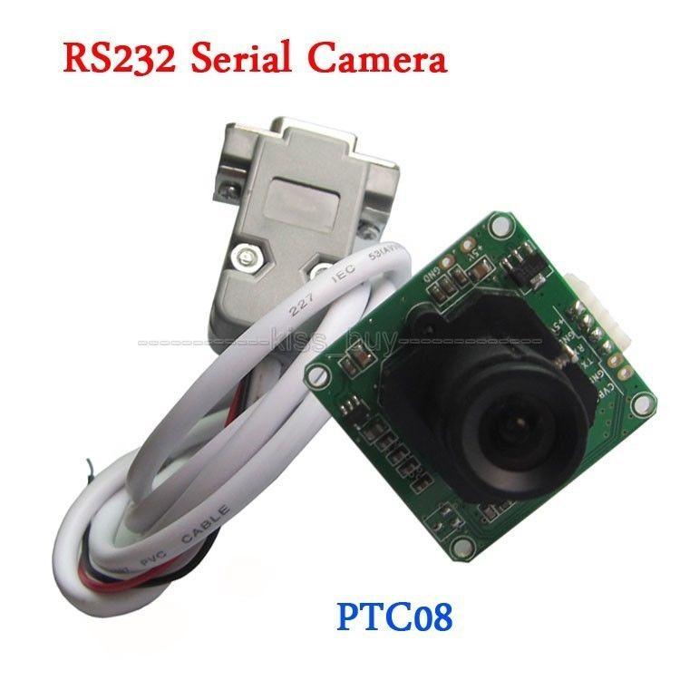 PTC08 RS232 модуль серийной камеры RS232/ttl CMOS 1/4 дюймов DC + В 5 В