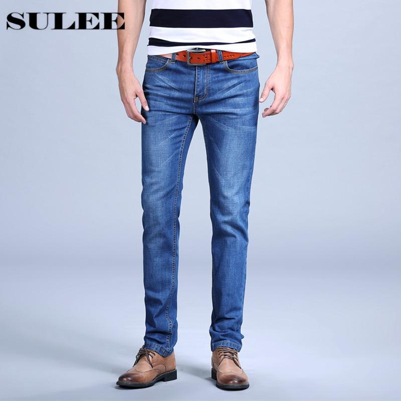Mens Jeans Trendy Stretch Light Blue Denim Men Slim Fit Jeans Pants Straight Slim Fit Mens Mens Business Jeans