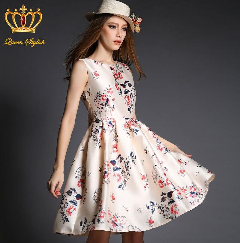 Vestido estampado mujer
