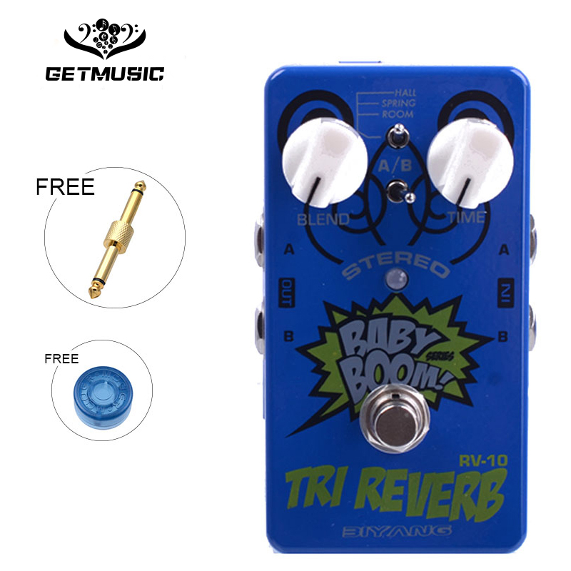 Biyang RV 10 Tri Reverb Effects Pedal Six Model Reverb Guitar Effects Pedal Baby Boom