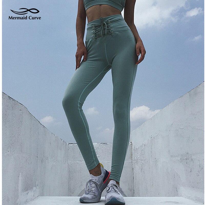 Hi Curves Fitness Leggings Reviews: Mermaid Curve Women High Waist Bandage Yoga Pant Workout