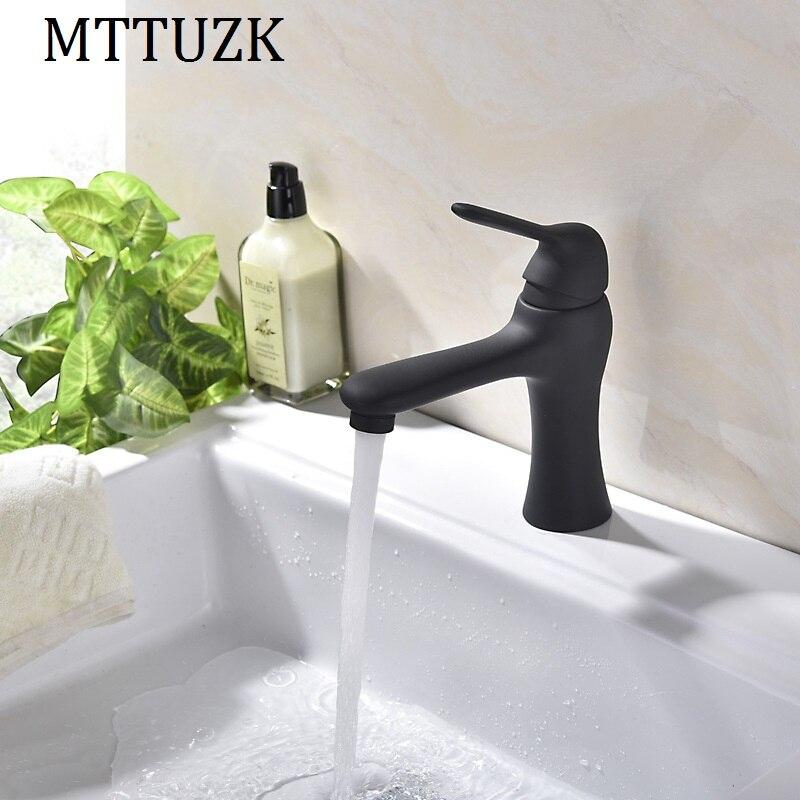 MTTUZK brushed/paint 304 Stainless steel single handle basin faucet toilet wash basin faucet ceramic basin tap torneira