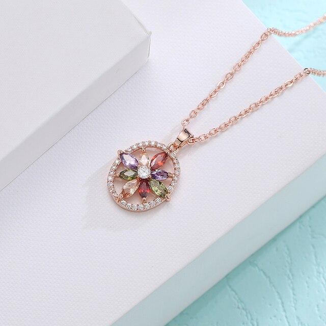 Купить fym модное красочное ожерелье + кольца в форме полых цветов