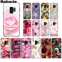 Babaite Pink Peony Rose Plants Flower Newly Arrived Transparent Cell Phone Case for Samsung S6edge S6 edge plus S7 edge S7 S8 S9