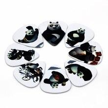 10pcs Lot 0 71mm thickness Kung Fu Panda white font b guitar b font picks cute