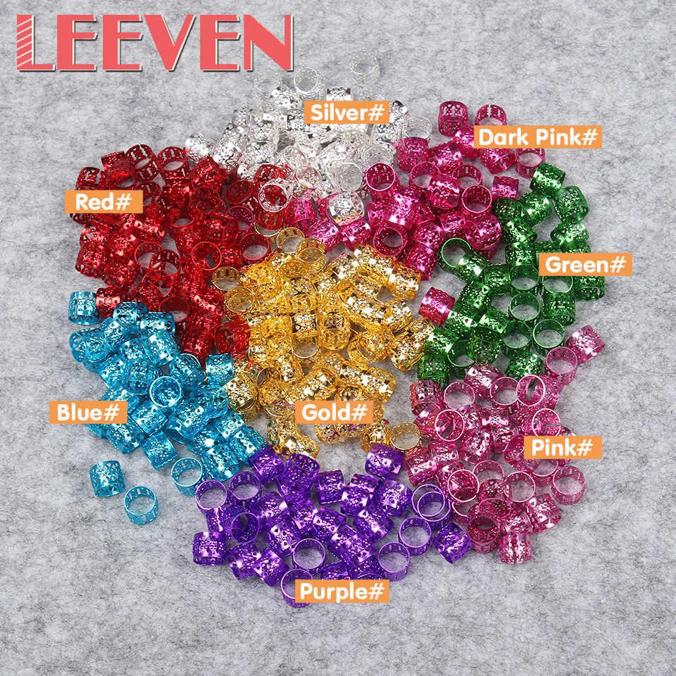Регулируемая волос кольцо Dreadlock Бисер для плетения Регулируемый Вязание 9 мм многоцветные Pptional