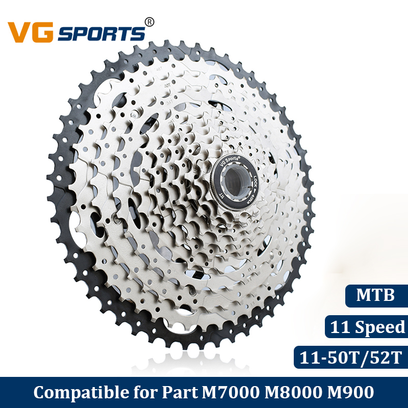 купить Bicycle Cassette 11 Speed 11s 50T 52T Freewheel Sprockets Bike Velocidade MTB Cog 50T 52T Cdg 609g Mountain Bike Free Wheel недорого