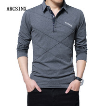 ARCSINX 5XL Polo Shirt Mannen Plus Size 3XL 4XL Herfst Winter Merk mannen Polo Shirt Lange Mouw Toevallige Mannelijke shirt Heren polo Shirts(China)