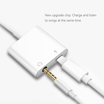 2 in 1 Earphone Audio Adapter Charging Cable Mobile Phone Aux Dual Jack For iPhone 7 8 plus X XS For Lightning 3.5mm Splitter 4