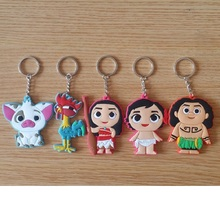 Moana Keychain Anime Key Chain Moive Key Ring Holder Pendant Chaveiro Jewelry Souvenir Action Figure Toy