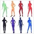 (A1-027) Nueva moda 2017 caliente los hombres fetiche catsuit spandex lycra brillante sexy traje de halloween gay