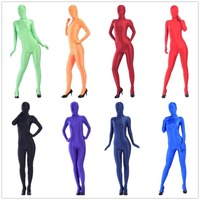 (FZS004) Halloween catsuit spandex men fetish shiny lycra sexy suit