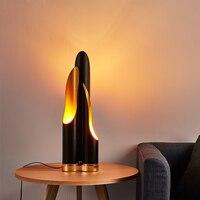 SGROW Креативный дизайн современный огни черный наклонной открытия Алюминий Трубы Настольная лампа светодио дный стол светильники для Спаль