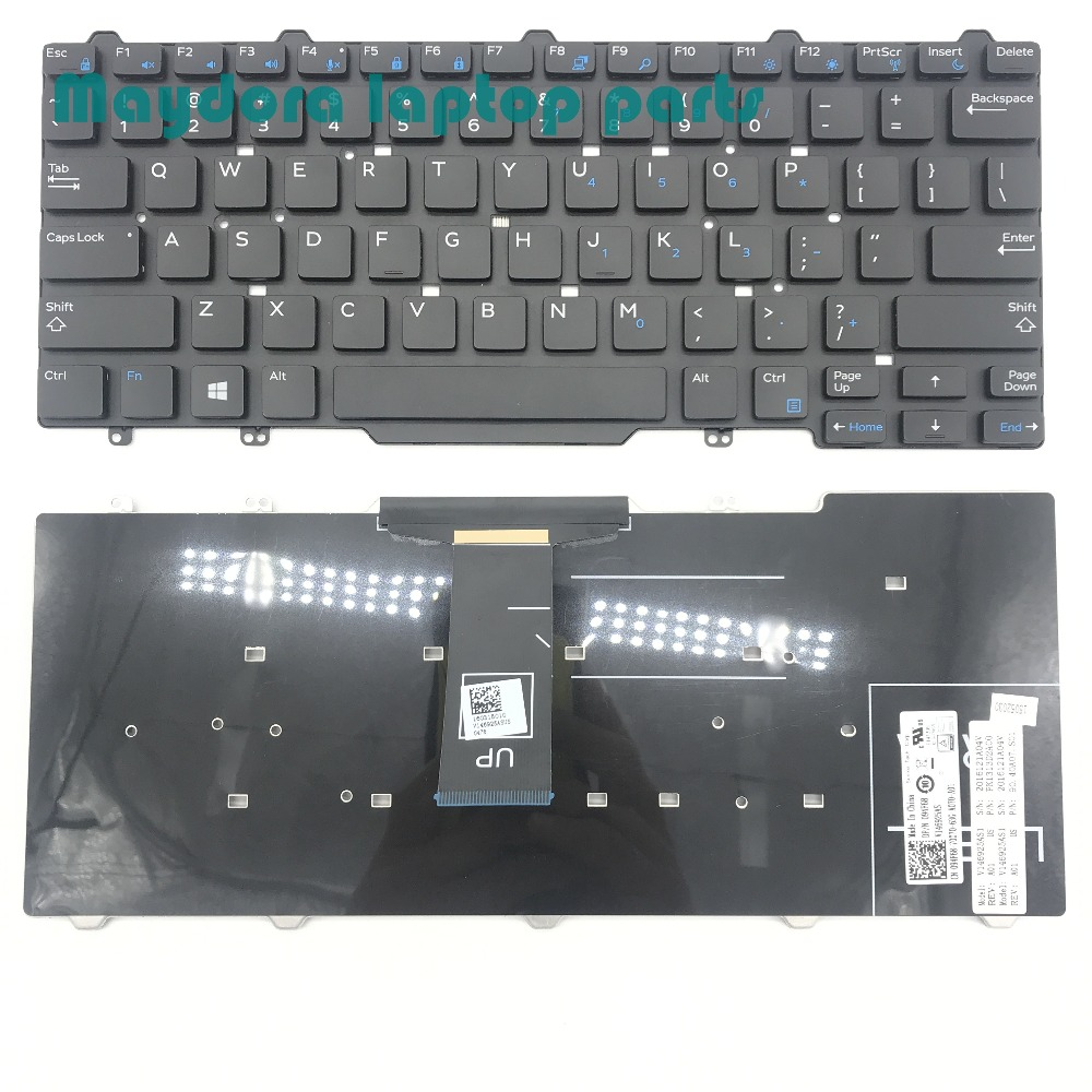 Brand new laptop parts for Dell Latitude 3340 E5450 E7450 E7470 E7480 7490 5470 5480 QWERTY US keyboard 094F68 94F68 new emay gaahoo zbu10 usb io board ffc flex cable for dell latitude e7450 dpn 0kcxkt zbu10 lf a961p