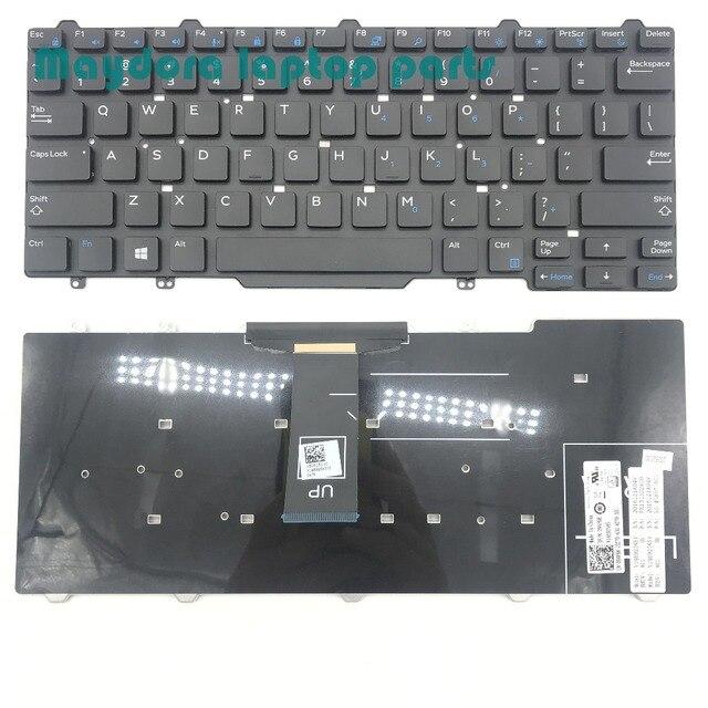 แบรนด์ใหม่ชิ้นส่วนแล็ปท็อปสำหรับD Ell L Atitude 3340 E5450 E7450 E7470 E7480 7490 5470 5480 QWERTYสหรัฐแป้นพิมพ์094F68 94F68-ใน คีย์บอร์ดสำหรับเปลี่ยน จาก คอมพิวเตอร์และออฟฟิศ บน
