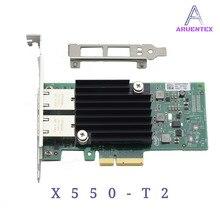 ARUENTEX X550-T2 Dual Port 10 gigabit network Card PCIe3.1 X8 Chipset X550 RJ45*2 Copper Interfaces alibaba express