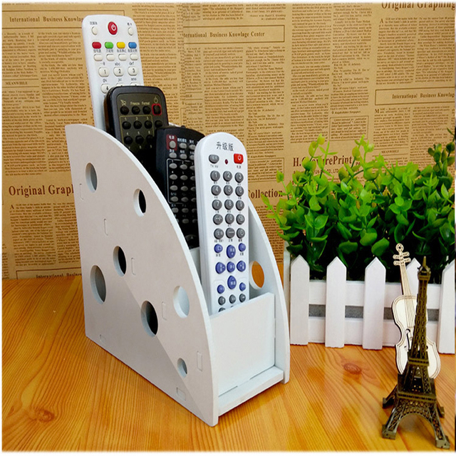 Charmant Plastic Wood Tv Air Conditioner Remote Control Storage Holder Home Office  Sundries Storage Case Desk Organizer