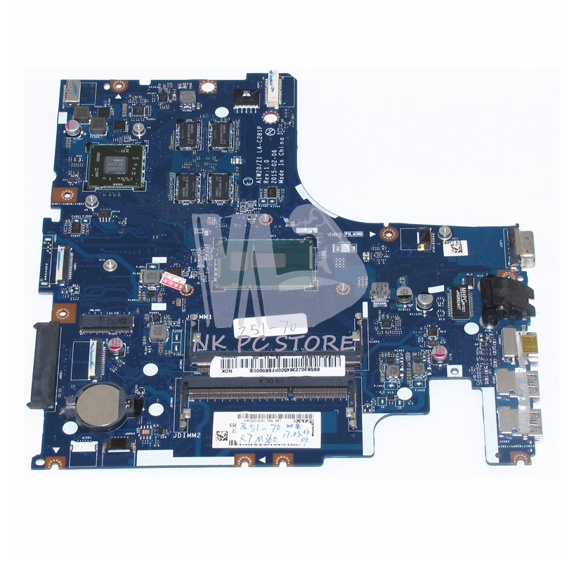 US $175 12 12% OFF|NOKOTION LA C281P 15 6 Inch Notebook PC Motherboard For  Lenovo Z51 70 Laptop Motherboard R7 M360 4GB Discrete Graphics I5 5200U-in