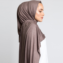90*180 мусульманский хиджаб из Джерси шарф для женщин femme мусульман хиджабы исламские шали soild Цвет модал платок для женщин