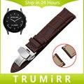 22mm butterfly correa de liberación rápida hebilla de la correa para el vector luna meridiano primera capa de cuero genuino venda de reloj de pulsera de la muñeca