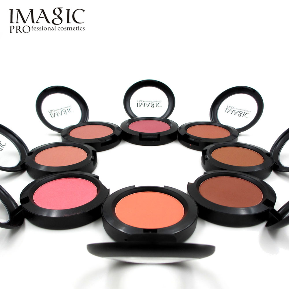 IMAGIC Makeup Cheek Blush Powder 8 Color blusher different color Powder pressed Foundation Face Makeup Blusher